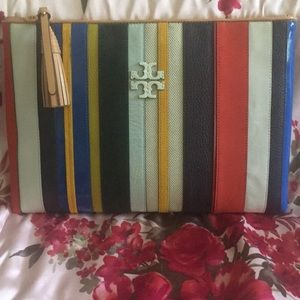 Tory Burch ballon stripe handbag